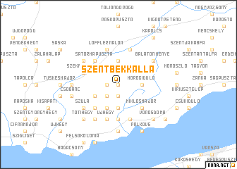 map of Szentbékkálla