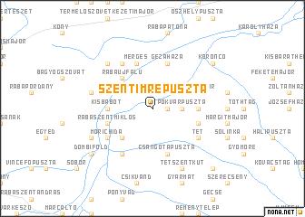 map of Szentimrepuszta