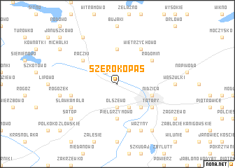 map of Szerokopaś