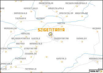 map of Szigetitanya