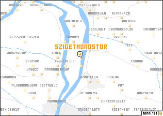 map of Szigetmonostor