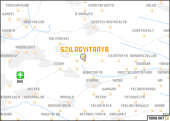 map of Szilágyitanya