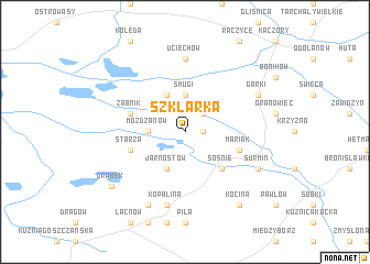 map of Szklarka