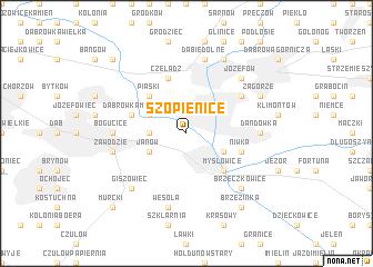 map of Szopienice