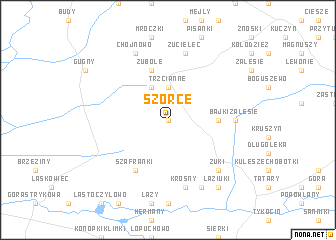 map of Szorce