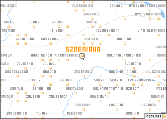 map of Szreniawa