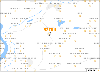 map of Sztum