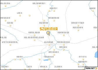map of Szuminka