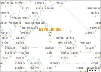 map of Szydłowiec