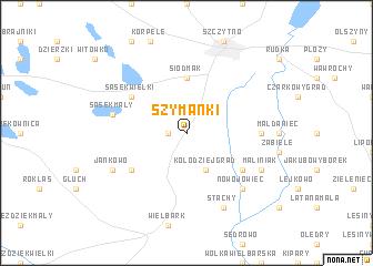 map of Szymanki