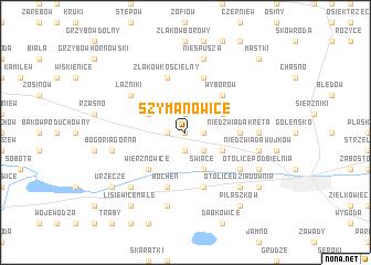 map of Szymanowice