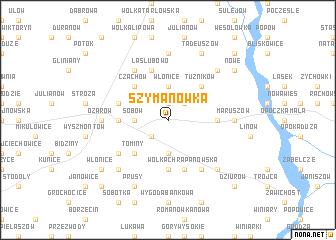 map of Szymanówka