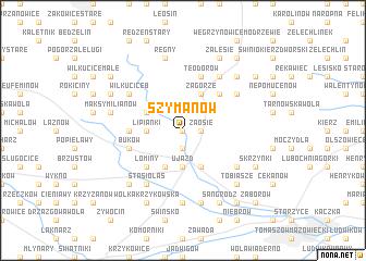 map of Szymanów
