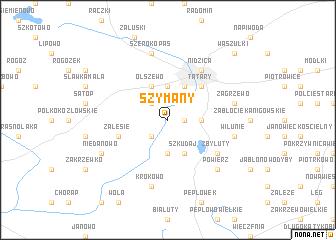 map of Szymany