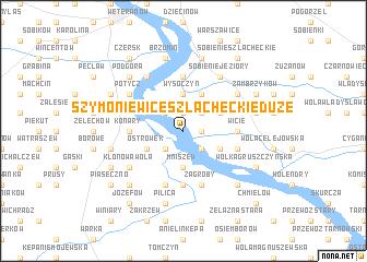 map of Szymoniewice Szlacheckie Duże