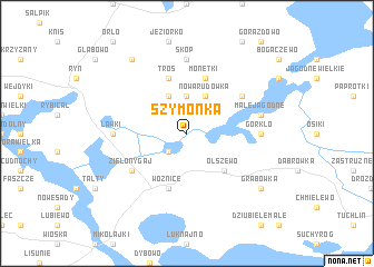 map of Szymonka