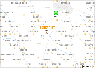 map of Taazout