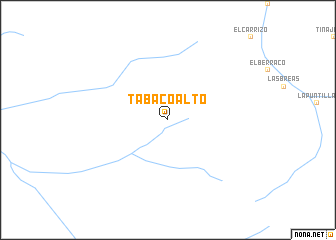 map of Tabaco Alto