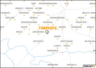map of Tabakofé