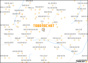 map of Tabanachat