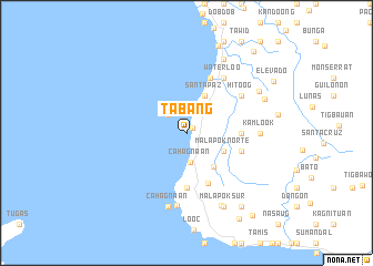 map of Tabang