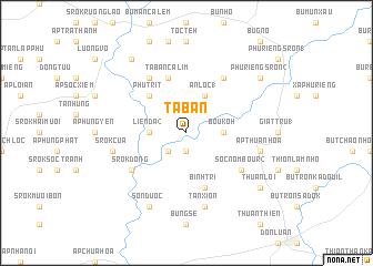 map of Ta Ban