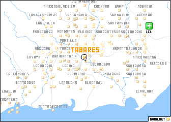map of Tabares