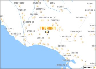 map of Tabauan
