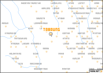 map of Tabaung