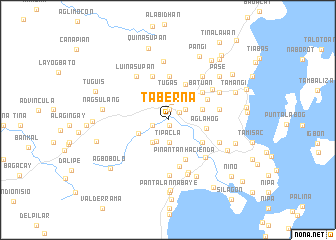 map of Taberna