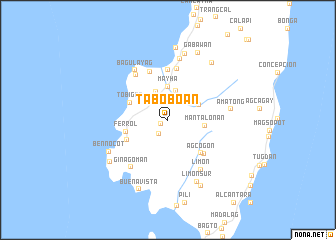 map of Taboboan