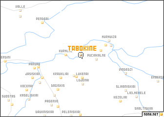 map of Tabokinė