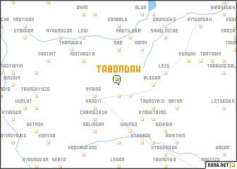 map of Tabôndaw