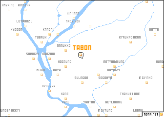 map of Tabôn