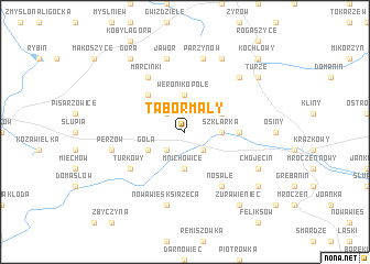 map of Tabor Mały