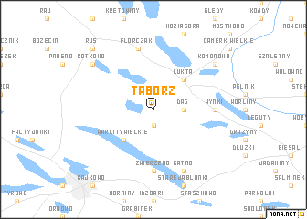 map of Tabórz