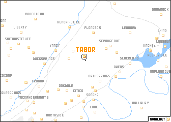 map of Tabor