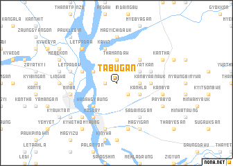 map of Tabugan