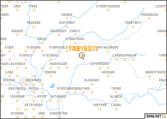map of Tabyegyi