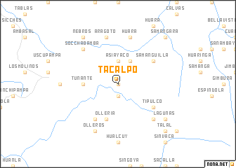 map of Tacalpo