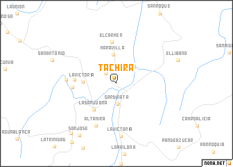 map of Táchira