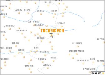 map of Taçi i Sipërm