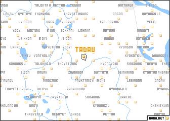 map of Tada-u