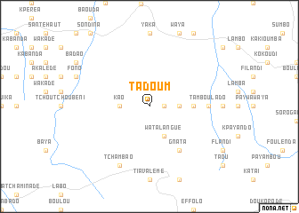 map of Tadoum