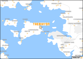 map of Taebihyŏn