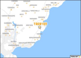 map of Taebyŏn