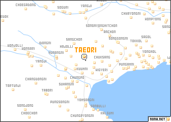 map of Taeo-ri