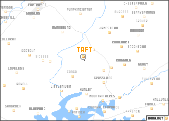 map of Taft