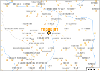 map of Tagadirt