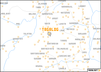 map of Tagalog